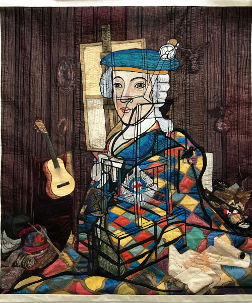 Harlequin Embroidery (after Calum Colvin) Elma Colvin