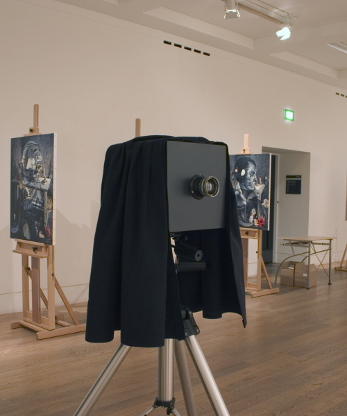 Exhibition View, Natural Magic, Royal Scottish Academy, Edinburgh 2009. 'Chimenti' 2009, lenticular stereoscope (in camera).