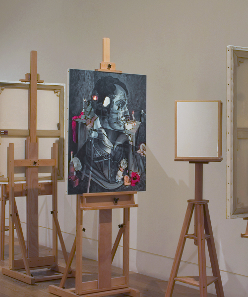 Exhibition View, Natural Magic, Royal Scottish Academy, Edinburgh 2009. Negative Sublime I and II Mirror Stereoscopes.
